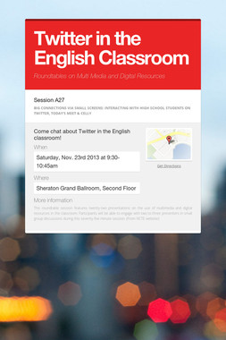Twitter in the English Classroom