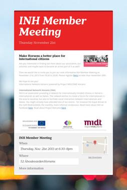 INH Member Meeting