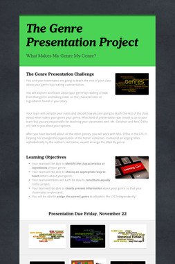 The Genre Presentation Project
