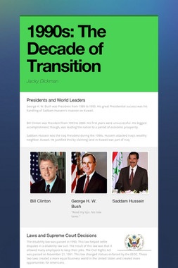1990s: The Decade of Transition