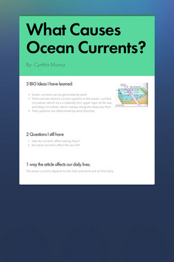 What Causes Ocean Currents?