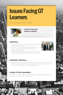 Issues Facing GT Learners