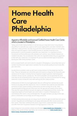 Home Health Care Philadelphia