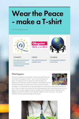 Wear the Peace - make a T-shirt