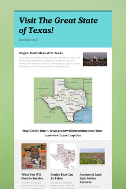 Visit The Great State of Texas!