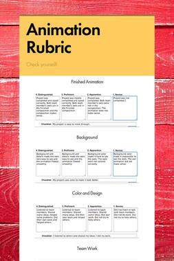 Animation Rubric