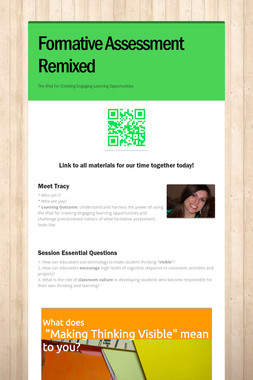 Formative Assessment Remixed