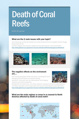 Death of Coral Reefs