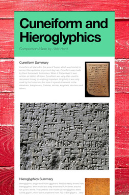 Cuneiform and Hieroglyphics
