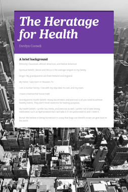 The Heratage for Health