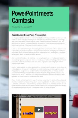 PowerPoint meets Camtasia