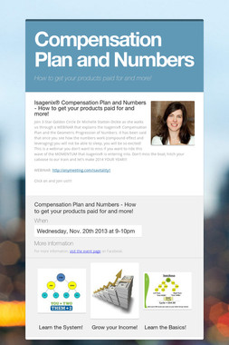 Compensation Plan and Numbers