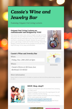 Cassie's Wine and  Jewelry Bar