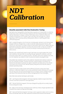 NDT Calibration