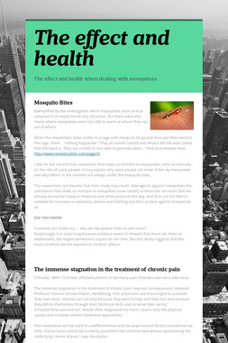 The effect and health