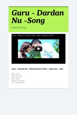 Guru - Dardan Nu -Song