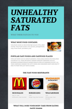 UNHEALTHY SATURATED FATS