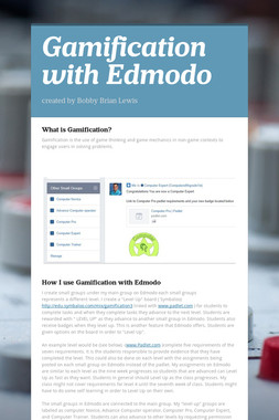 Gamification with Edmodo