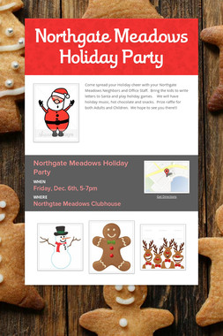 Northgate Meadows Holiday Party