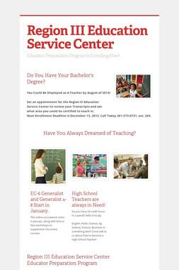 Region III Education Service Center