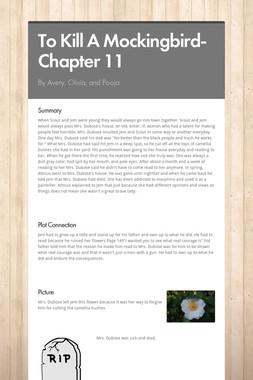 To Kill A Mockingbird- Chapter 11