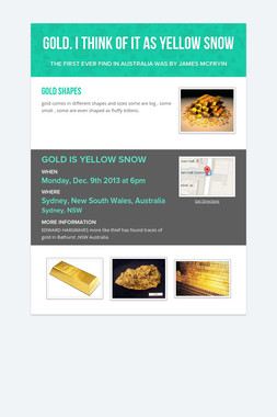 Gold. I think of it as yellow snow