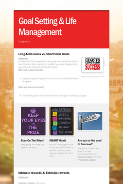 Goal Setting & Life Management