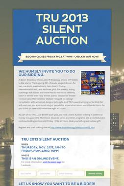 TRU 2013 Silent Auction