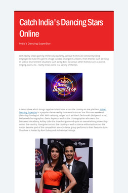 Catch India's Dancing Stars Online