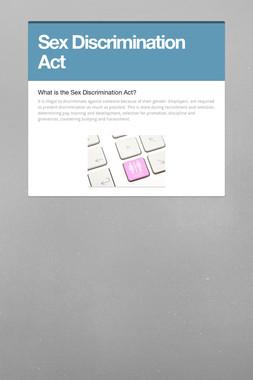 Sex Discrimination Act