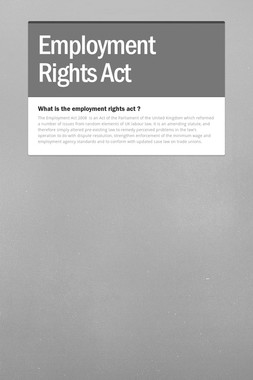 Employment Rights Act