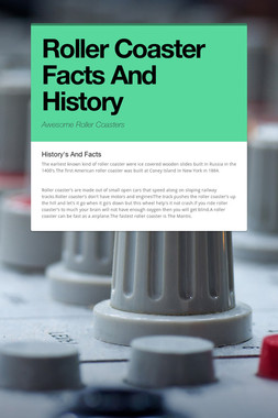 Roller Coaster Facts And History