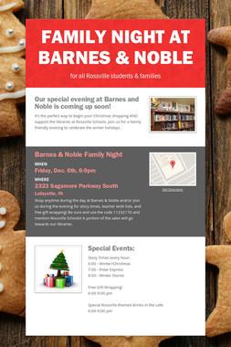 Family Night at Barnes & Noble