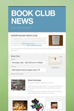 BOOK CLUB NEWS
