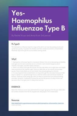Yes- Haemophilus lnfluenzae Type B