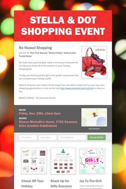 Stella & Dot Shopping Event