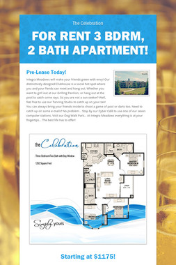 For Rent 3 Bdrm, 2 Bath Apartment!