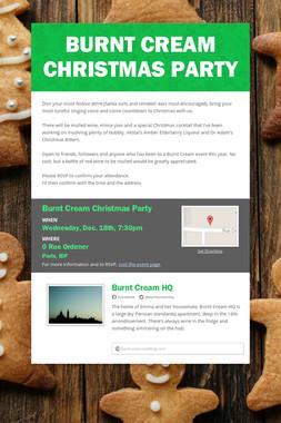 Burnt Cream Christmas Party