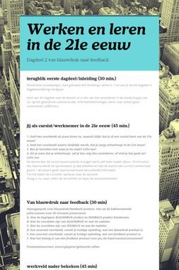 Werken en leren in de 21e eeuw
