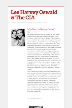 Lee Harvey Oswald & The CIA