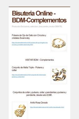 Bisuteria Online - BDM-Complementos