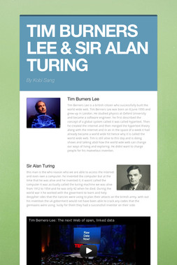 TIM BURNERS LEE & SIR ALAN TURING