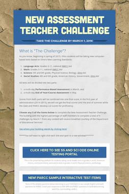 New Assessment Teacher Challenge