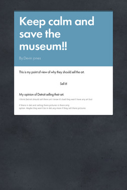 Keep calm and save the museum!!