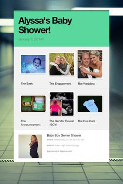 Alyssa's Baby Shower!