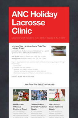 ANC Holiday Lacrosse Clinic
