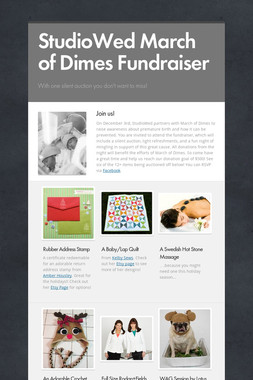 StudioWed March of Dimes Fundraiser