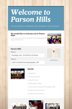 Welcome to Parson Hills