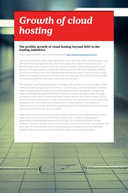 Growth of cloud hosting