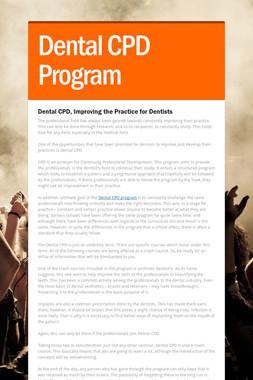 Dental CPD Program